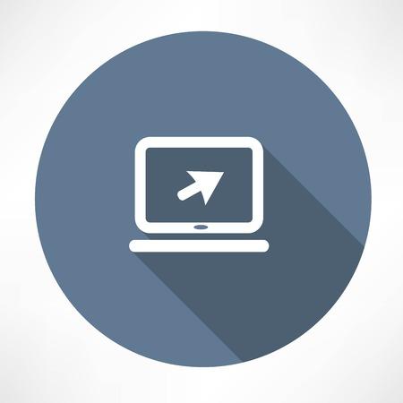 Laptop sign icon
