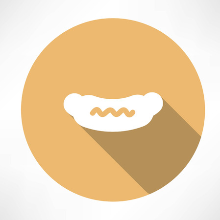 Sausage with mustard icon