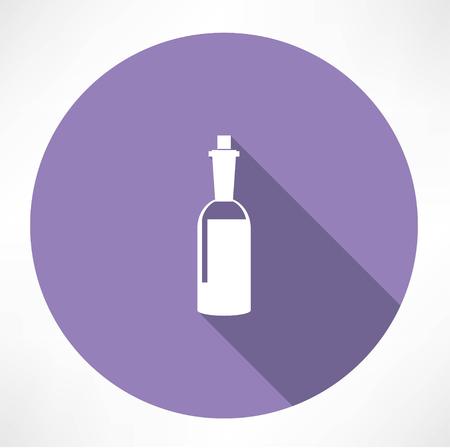 glass reflection: wine bottle icon