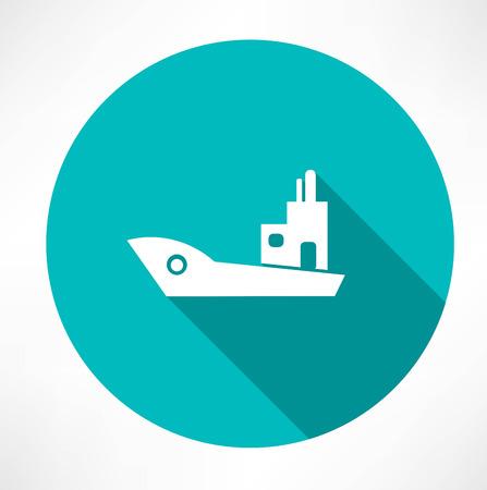 ship icon Ilustração