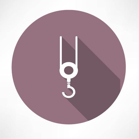 bouwkraan: bouwkraan icoon Stock Illustratie