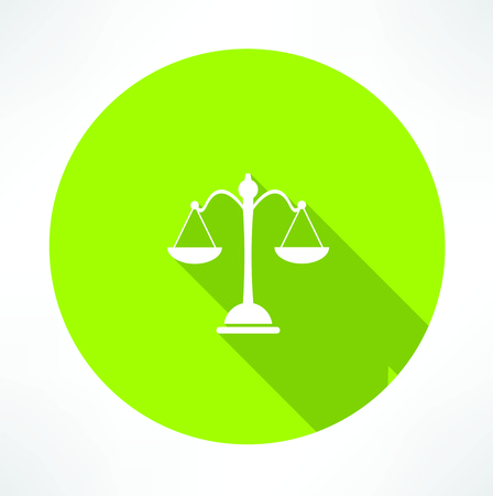 scale icon: Law symbol,vector