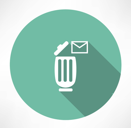 trash can with a message icon Vector