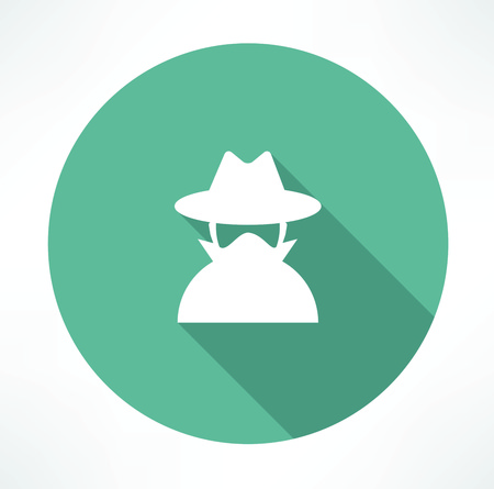 spy agent icon Illustration