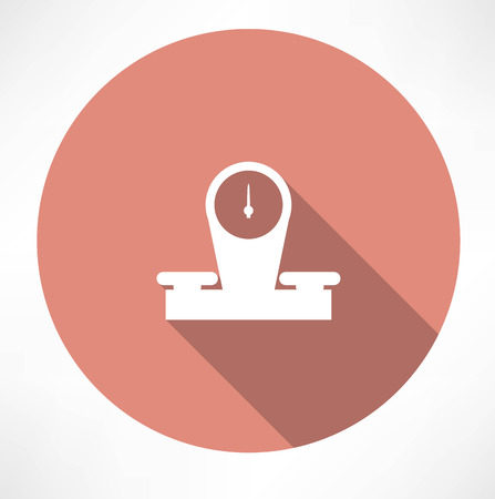 leverage: retro-store scales icon Illustration