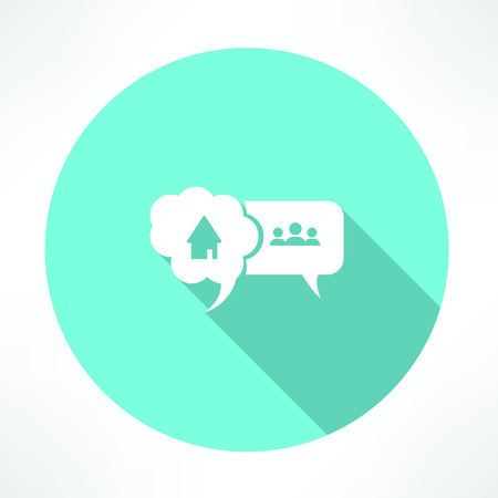house and people icon 向量圖像
