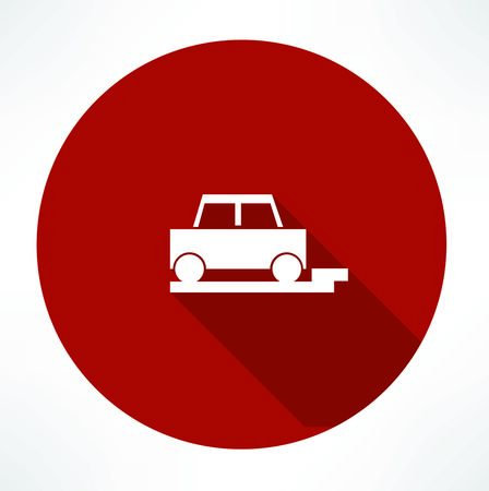 parked: parked car icon Illustration