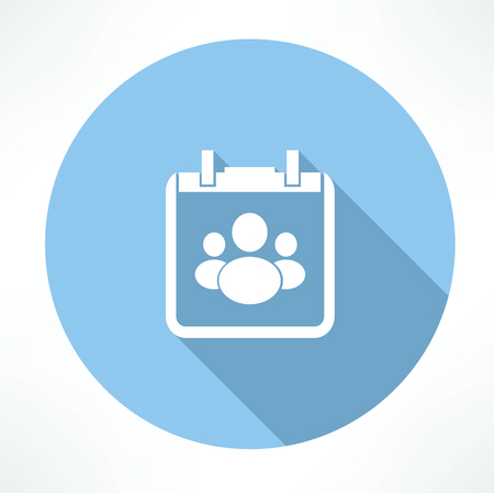 appointments: people in the notebook icon Illustration