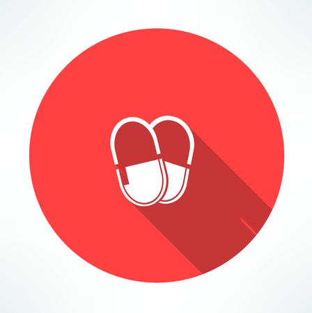 Medicine pills icon Illustration
