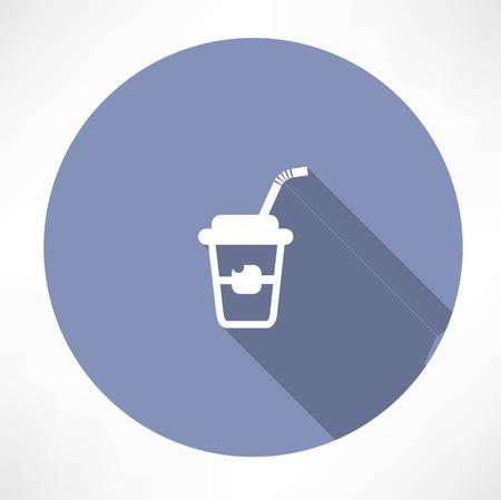styrofoam: Soft drink icon Illustration