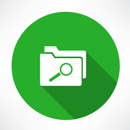 Magnifying glass searching Folders icon
