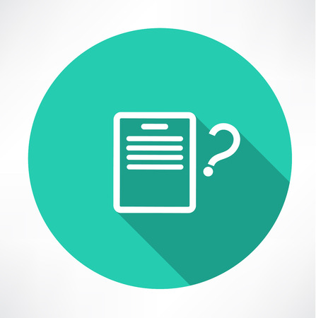 sheet with a question mark icon Vector