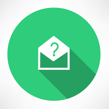 Envelope with a question mark