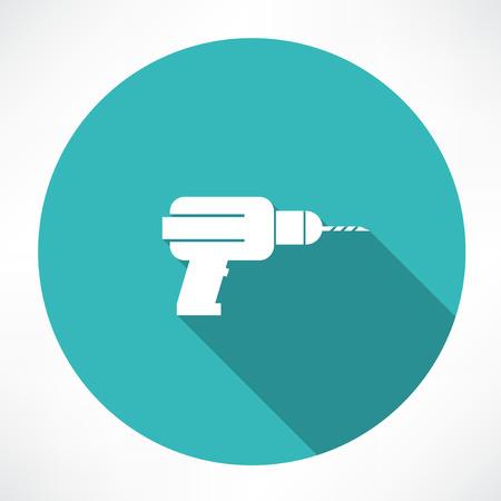 electric drill: Drill icon Illustration