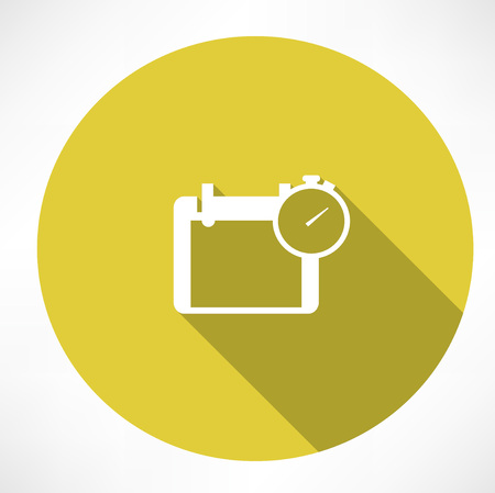 appointments: calendar and stopwatch icon Illustration
