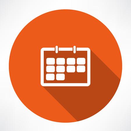 time bound: calendar icon Illustration