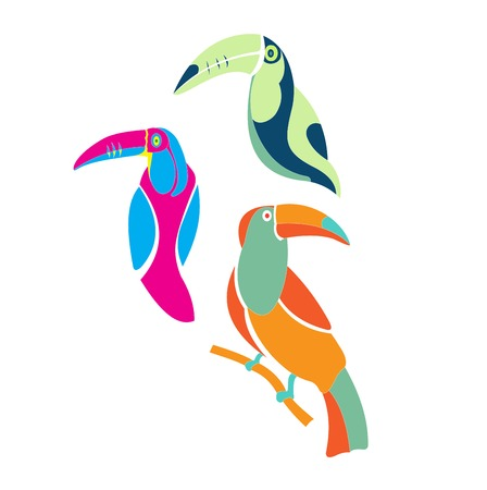 Vector illustration of a toucan Vector