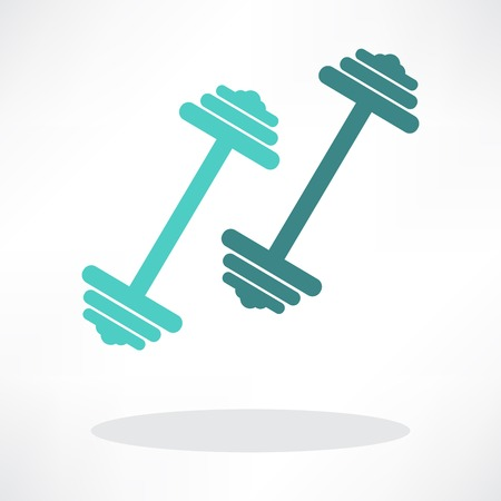 levantar pesas: mancuernas pesas símbolo