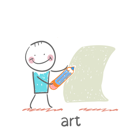 artist painting: art Illustration