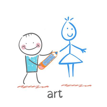 face painting: art Illustration
