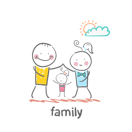 family Stock Illustratie