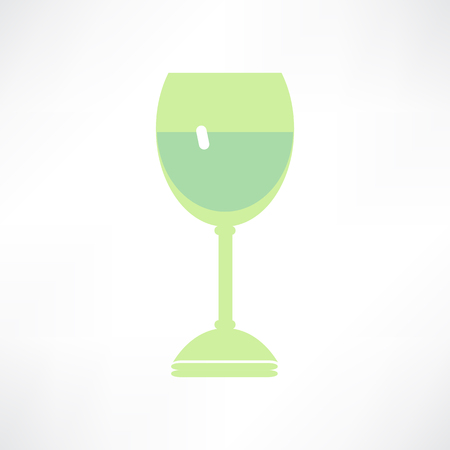 Icons glass Wine glasses,  brandy, whiskey and martinis silhouette on a white background 向量圖像