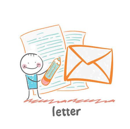 writing a letter: letter