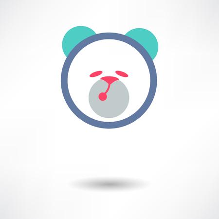 Teddy Bear Toy - Vector icon isolated Vector