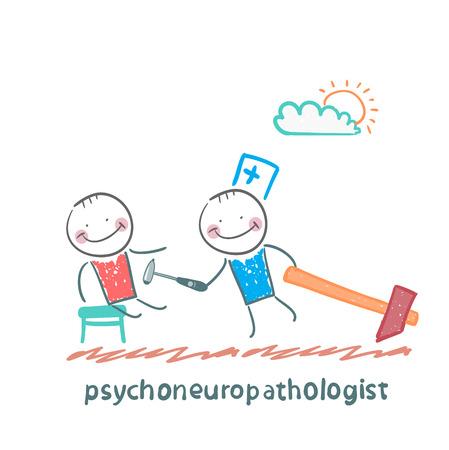 patients: psychoneuropathologist  check the patients nerves Illustration