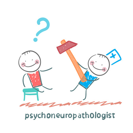 psychoneuropathologist  check the patients nerves Illustration