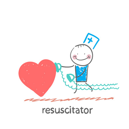 emergency cart: resuscitator hurry to the heart is sick