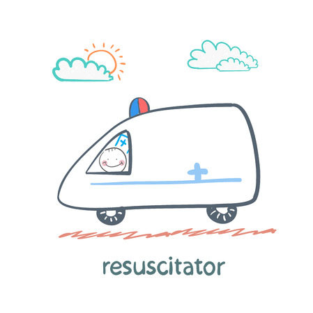 chest compression: resuscitator rides in the ambulance