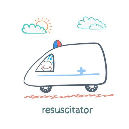 chest compression: resuscitator rides in the ambulance