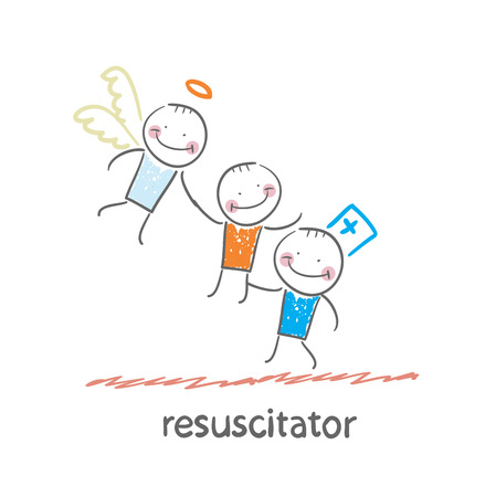 cpr: resuscitator keeps patients picking up Angel