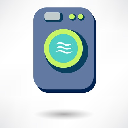 washing machine: Aislado icono Lavadora vector