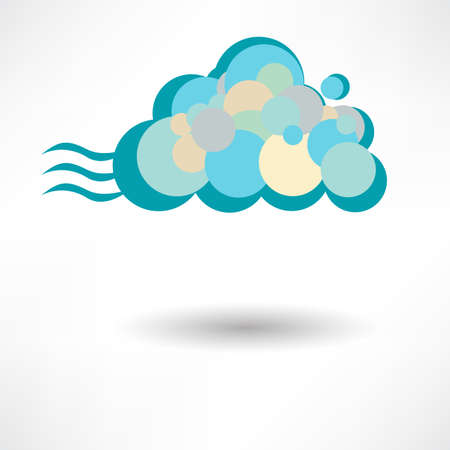 Cloud computing. Vector illustration. Vector