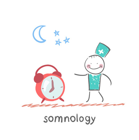 apnea: somnology stands next to the alarm