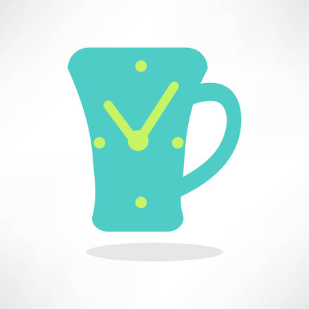 simplistic icon: Simplistic coffee cup icon, vector.