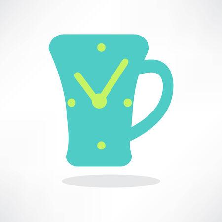 simplistic icon: Simplistic coffee cup icon, vector.