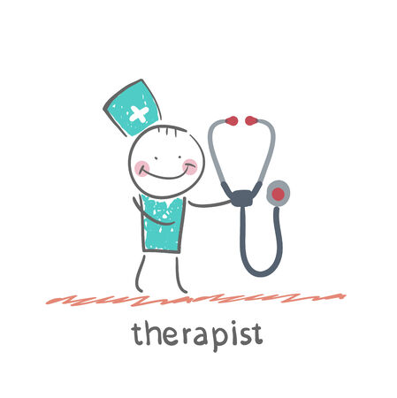 therapist with tetoskopom