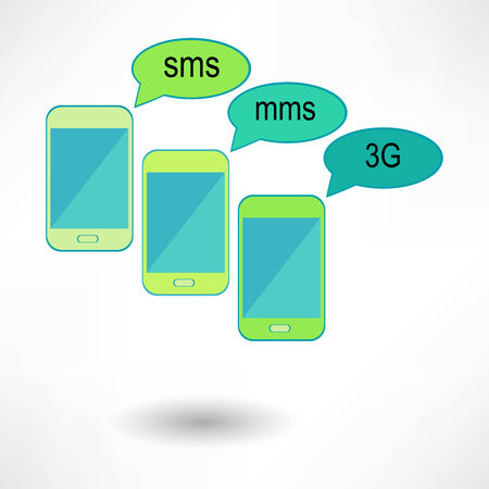 3g: Vector smartphone and magnifying glass