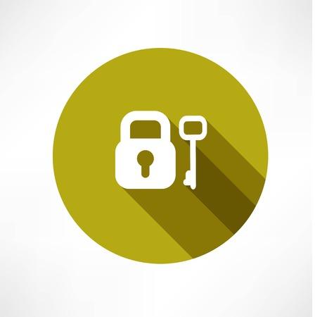 Key icons Illusztráció