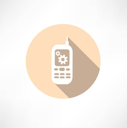 Gear Settings Phone icon Vector