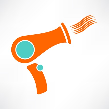 blow dryer: hair dryer or blow dryer symbol
