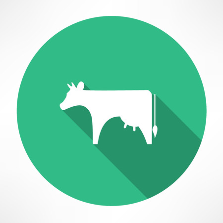 cow vector: Cow icon