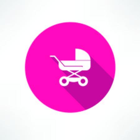 bebe a bordo: Icono de cochecitos de bebé