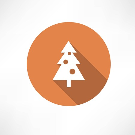 Christmas tree with toys icon