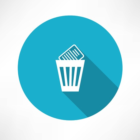trashcan: basket  with documents icon