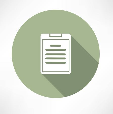 written text: notes, document icon Illustration
