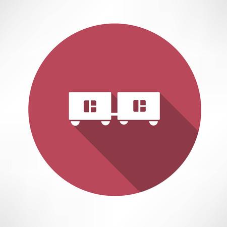 boxcar: wagons icon Illustration